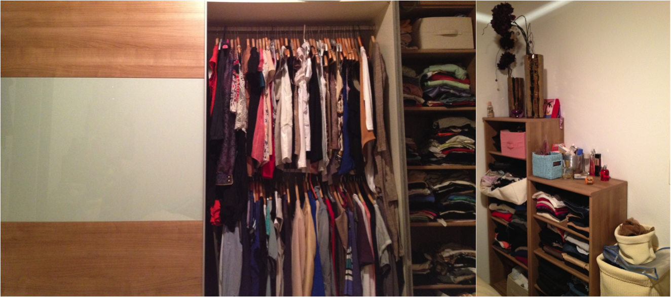 ... Not Mixing (dirty) Shoes With Clothes, And Hang Clothes As Much As  Possible (even Jumpers). This Is My Little Closet. A Dream One Hey ? No ?